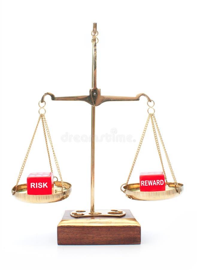 Risico tegenover beloning stock foto's