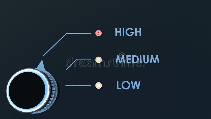 Risicobeheer of Optimalisering vector illustratie