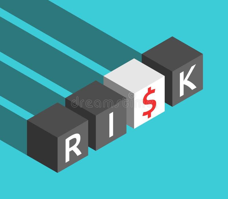 Risicokubussen, dollarteken stock illustratie