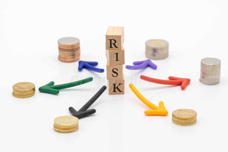 Risiko der Vermeidung des Risikos das Konzept der Risikodiversifikation eines b lizenzfreie stockfotografie
