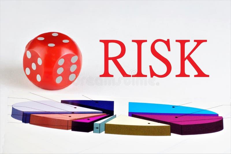 Risiko - eine Kombination aus Wahrscheinlichkeit und Folgen ungünstiger Ereignisse, finanzieller Verlust von Wertpapieren Das Ris lizenzfreies stockfoto