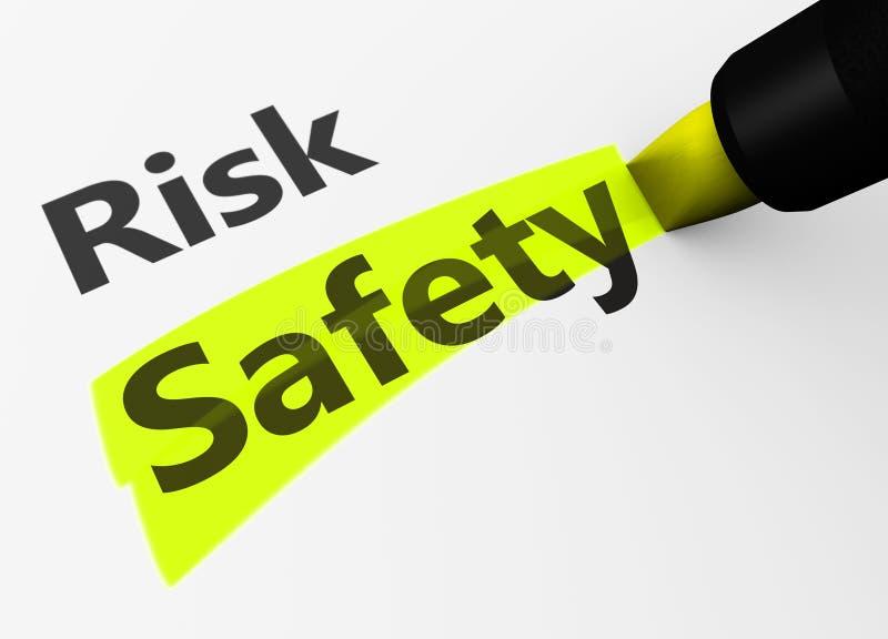 Risiko gegen Sicherheits-Wahl-Konzept vektor abbildung