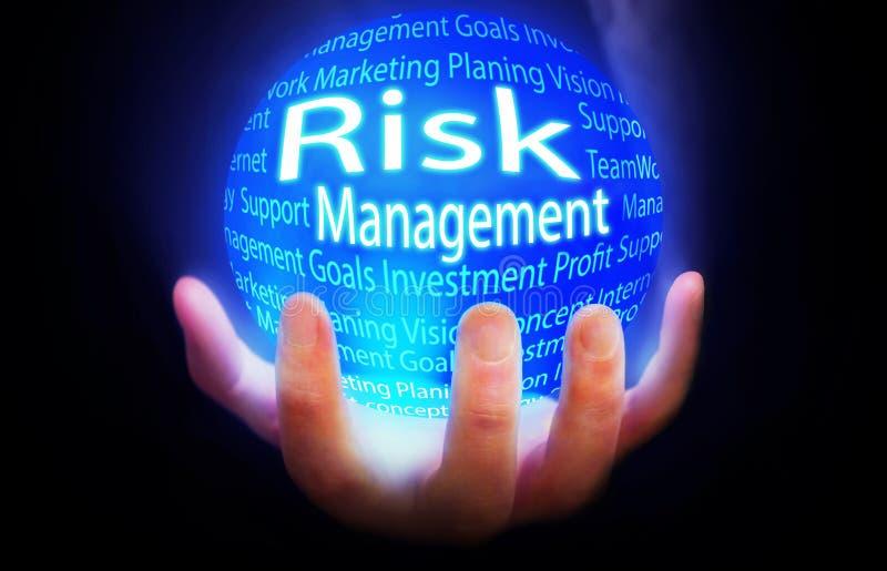 Risikomanagement-Kugelhintergrundblau lizenzfreies stockbild