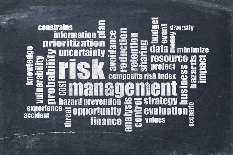 Risikomanagement-Wortwolke stockbild
