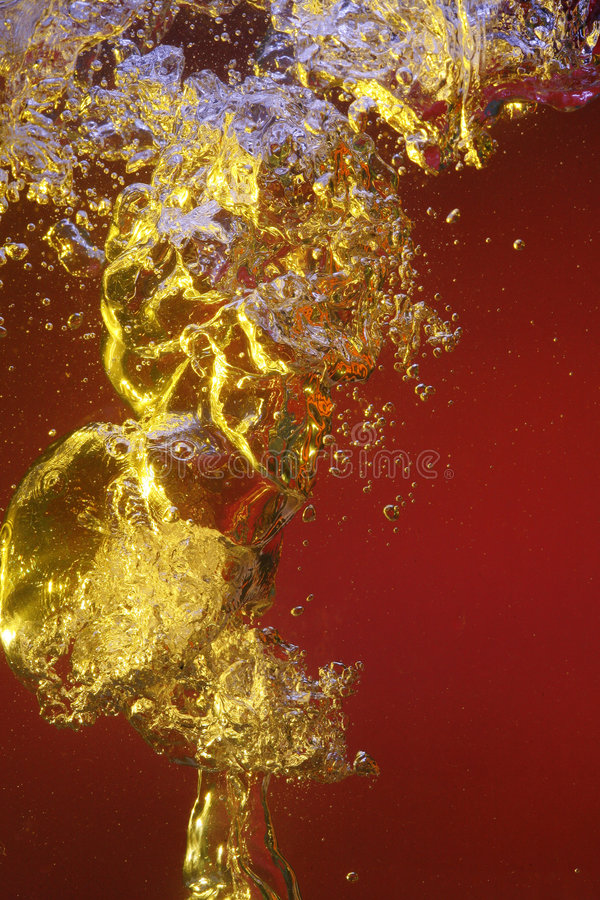 Rising air bubbles royalty free stock images
