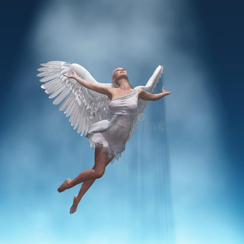 Rising angel royalty free illustration