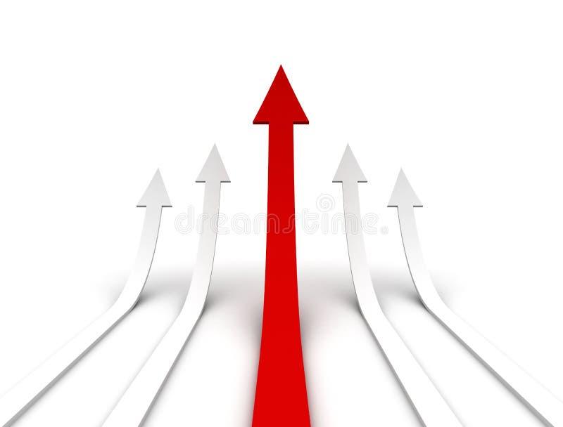 Rising arrows stock photography