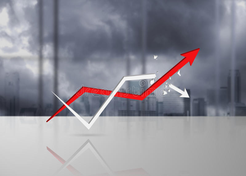 Rising arrows, representing business growth vector illustration