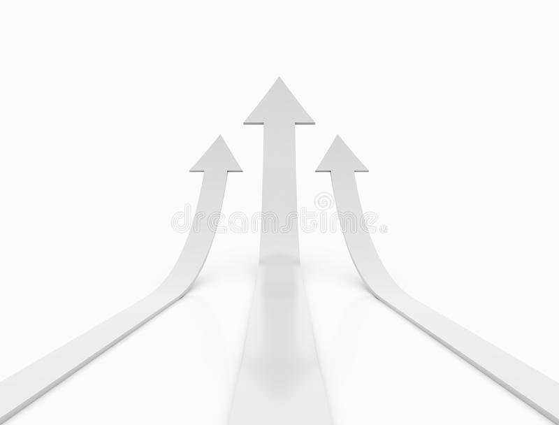 Rising arrows royalty free stock photography