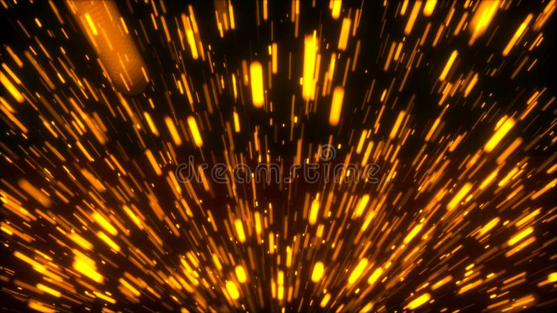 Rising bright embers, fire conceptual backdrop, 3d render computer generated background. Rising many bright embers, fire conceptual backdrop, 3d render computer royalty free stock image
