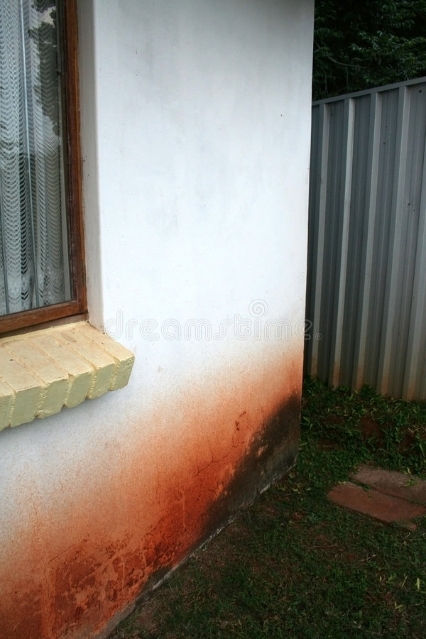 Rising Damp Outside Wall royalty free stock photo