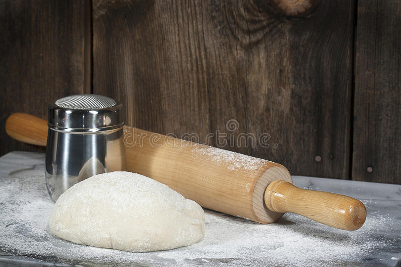 Rising Dough Rolling Pin royalty free stock images