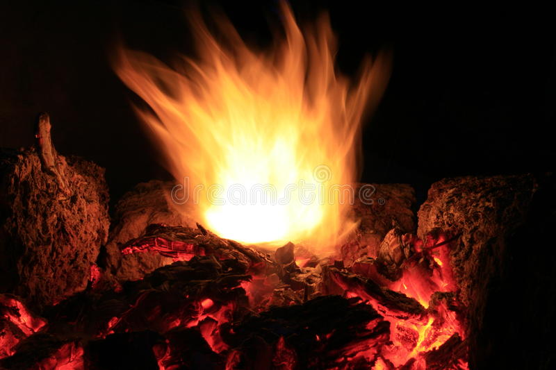 Rising flame stock photo
