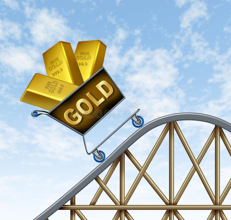 Rising gold prices stock illustration