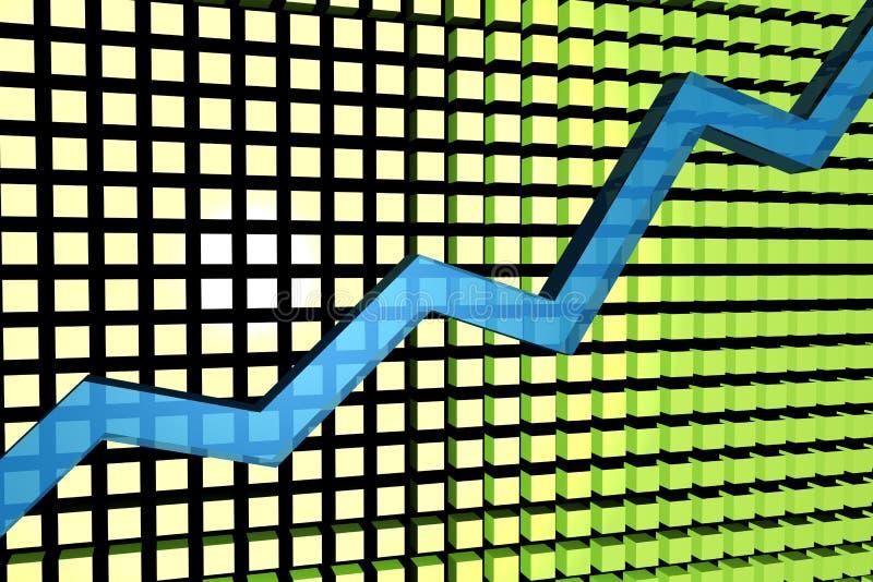 Rising graph stock illustration