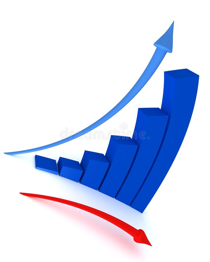 Rising graph vector illustration