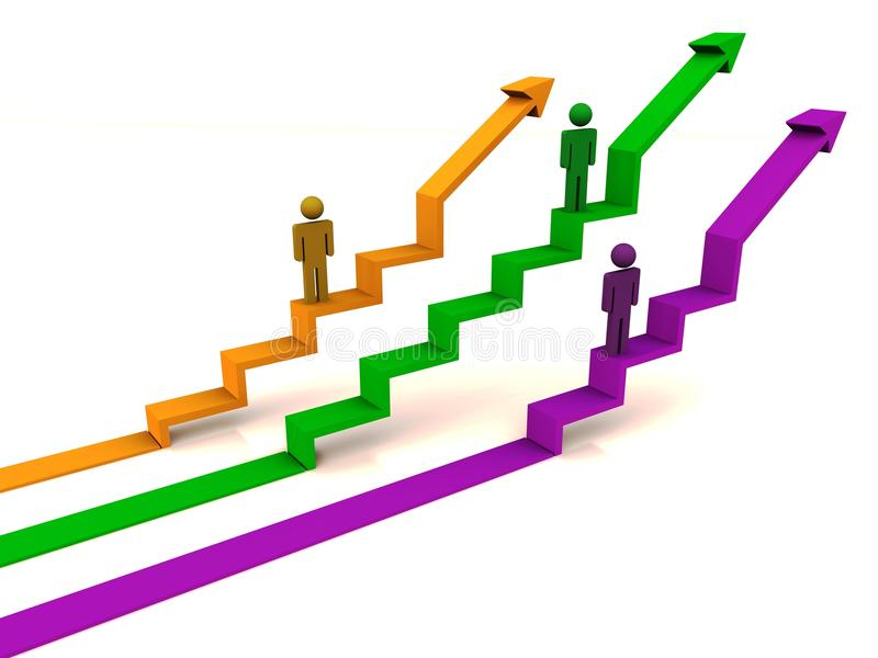 Rising graph development vector illustration