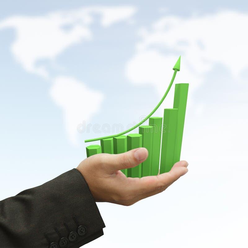 Free Rising Green Graph Royalty Free Stock Image - 25032956