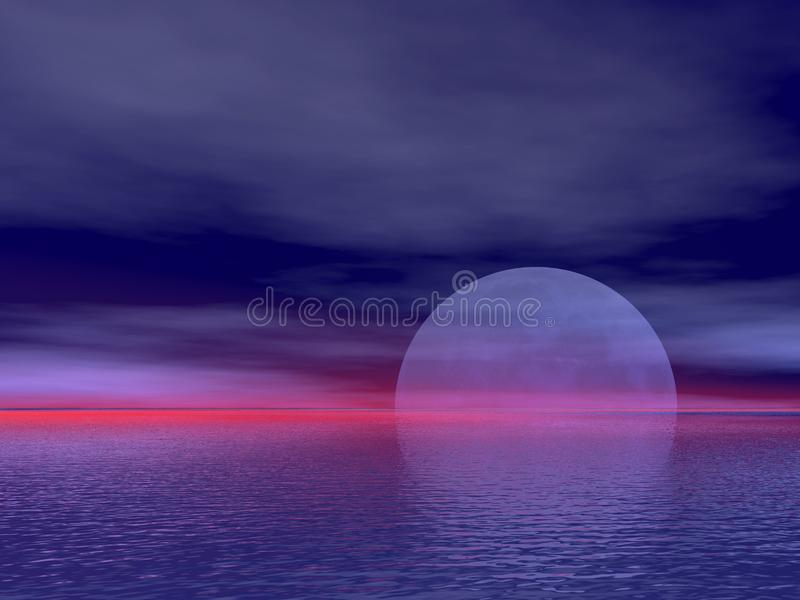 Rising moon royalty free stock photo