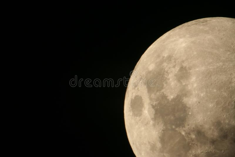Rising moon royalty free stock photos