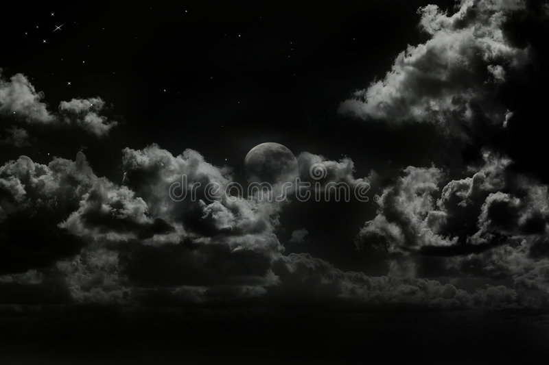 Rising moon stock images
