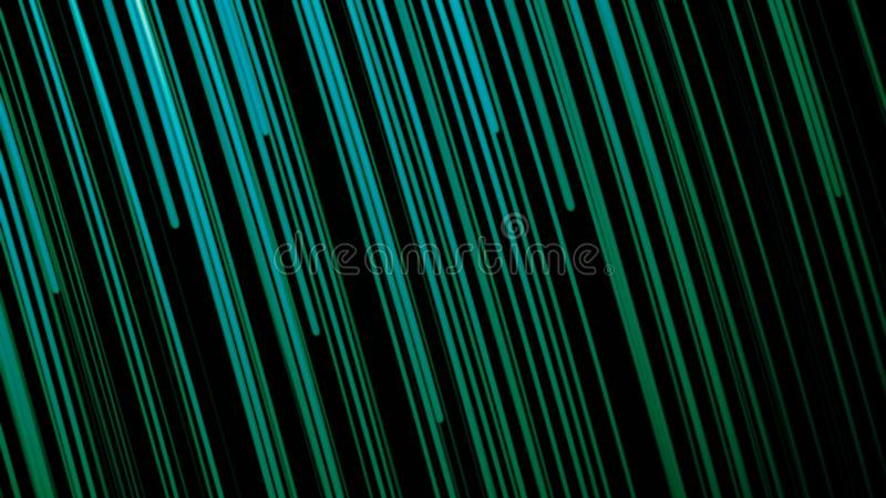 Rising Particle Beams Background Animation. Many vertical bright band lines, abstract computer generated backdrop stock illustration