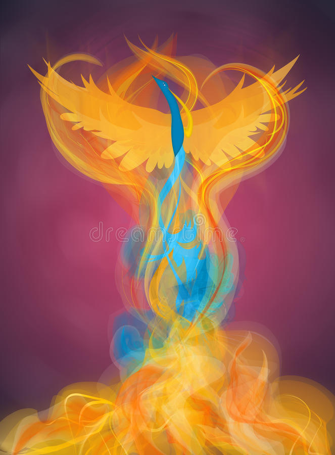 Rising Phoenix Illustration stock illustration