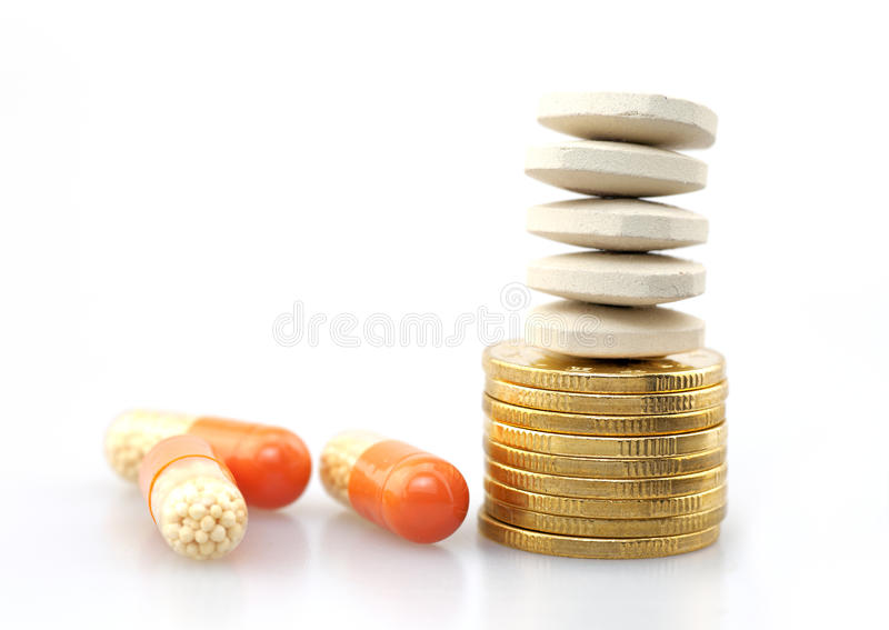 The rising price of drugs royalty free stock image
