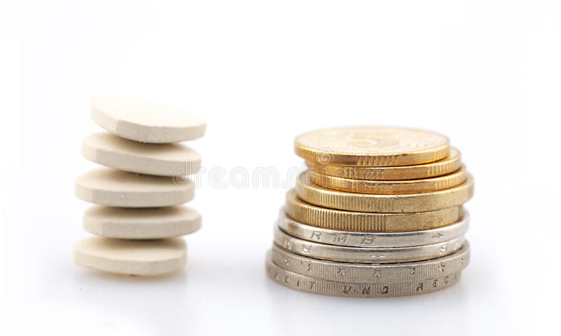 The rising price of drugs stock photo