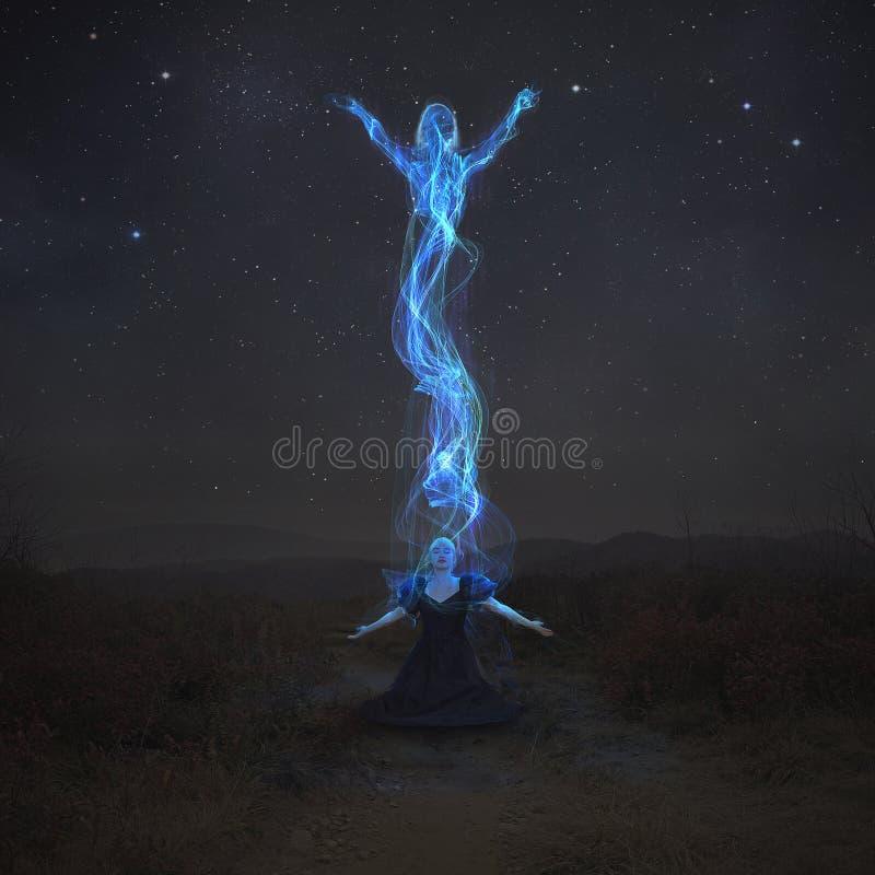 Rising spirit stock image