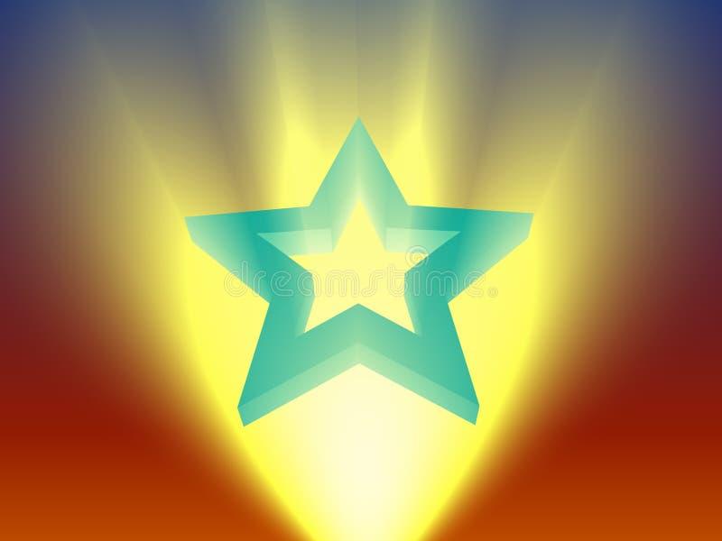 Rising star. Light beam royalty free illustration