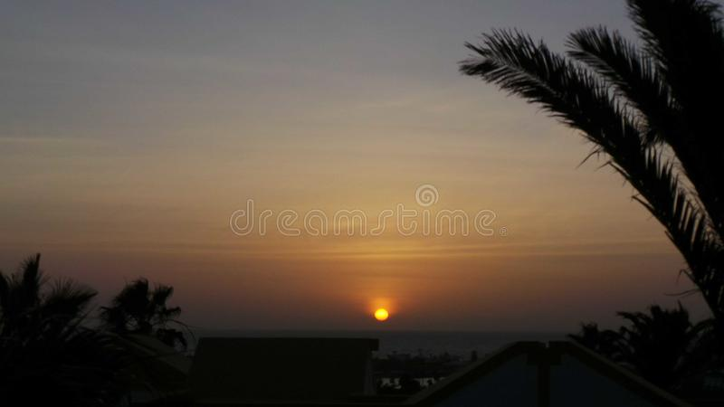 Rising sun. The rising sun royalty free stock images
