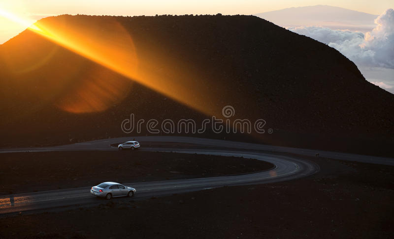 Rising Sun Beam. Royalty Free Stock Images