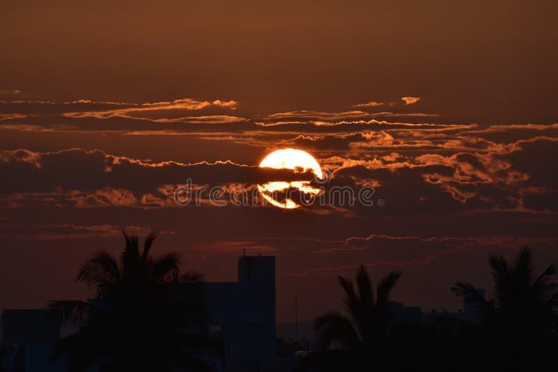 Rising Sun, Beautiful Landscape. Andhra Pradesh, India, morning, Rising Sun, Beautiful Landscape royalty free stock photos