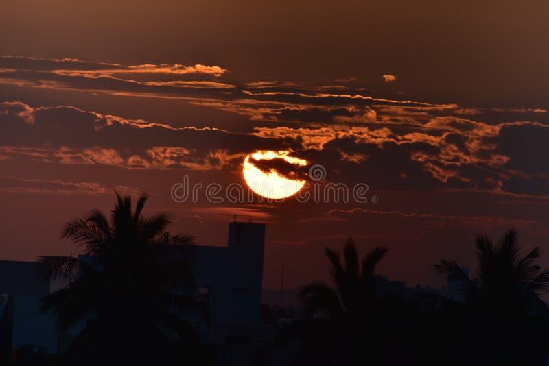 Rising Sun, Beautiful Landscape. Andhra Pradesh, India, morning, Rising Sun, Beautiful Landscape royalty free stock images