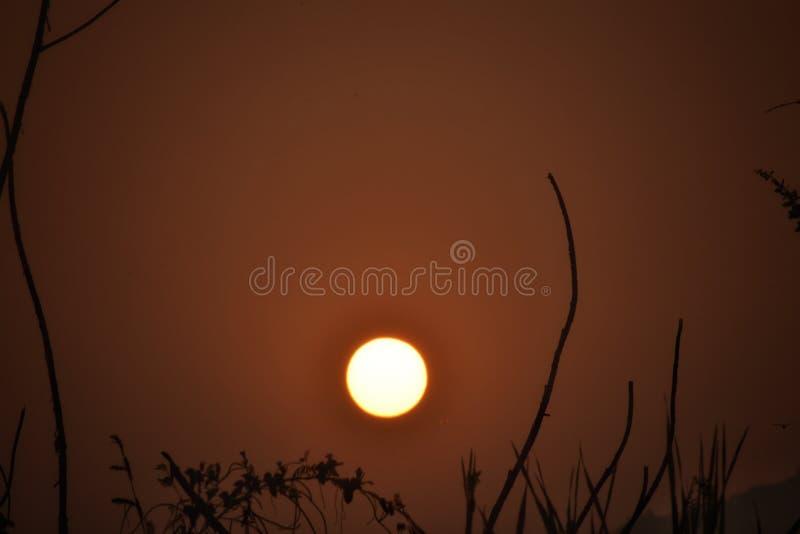Rising Sun. A beautiful view from Rasayani Maharashtra India stock photos