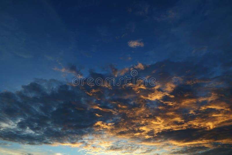 Rising sun. And blue sky stock photos