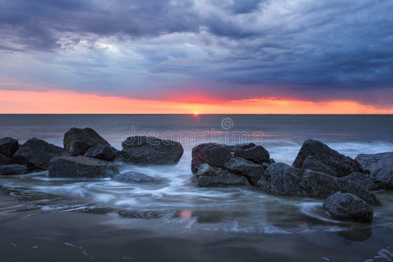 Rising Sun Charleston South Carolina Folly Beach stock image