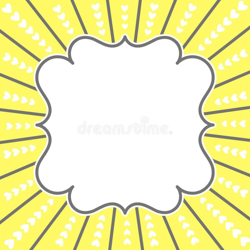 Free Rising Sun Hearts Frame Border Royalty Free Stock Images - 96866319