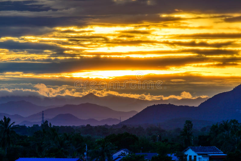 Rising sun in the morning. royalty free stock photos