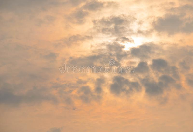 Rising sun. In the north of Thailand royalty free stock photo
