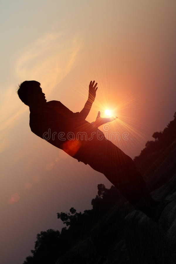 The rising sun royalty free stock image