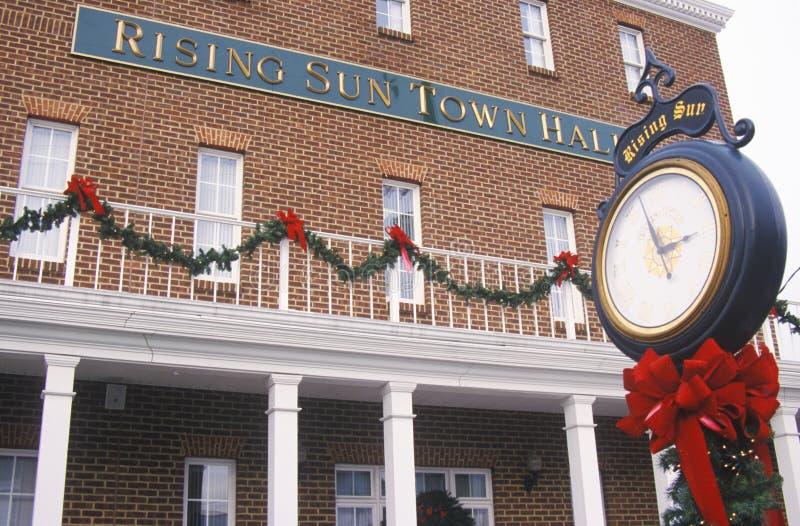 Rising Sun Town Hall exterior. Cecil County, Maryland stock photos