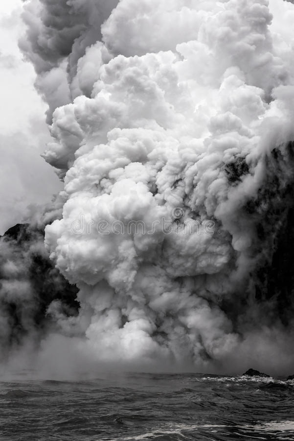 Rising volcanic steam royalty free stock photo