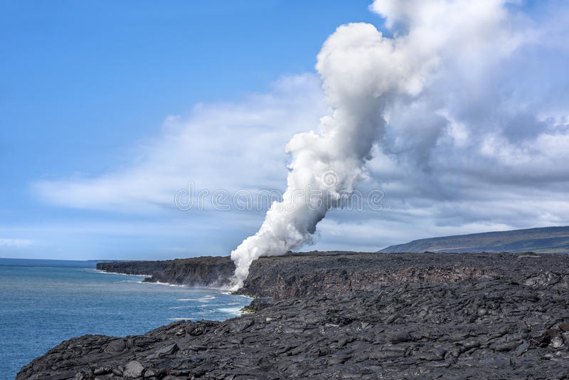 Rising volcanic steam royalty free stock image