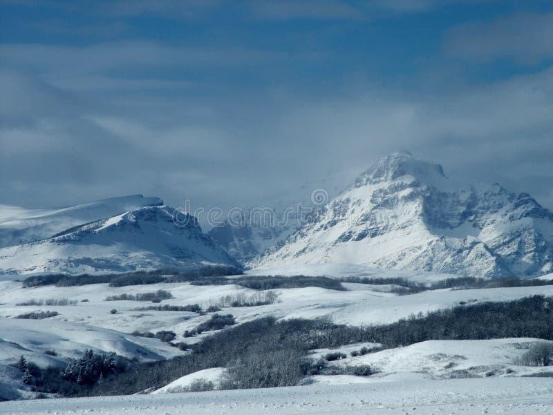 Rising Wolf Mountain, Winter royalty free stock image