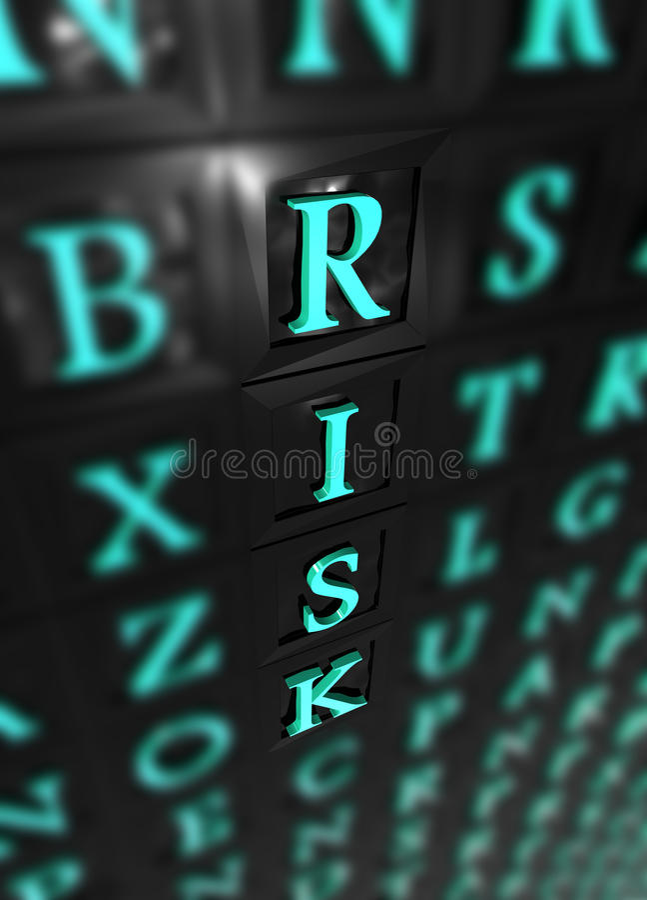 Risk 3d word royalty free illustration