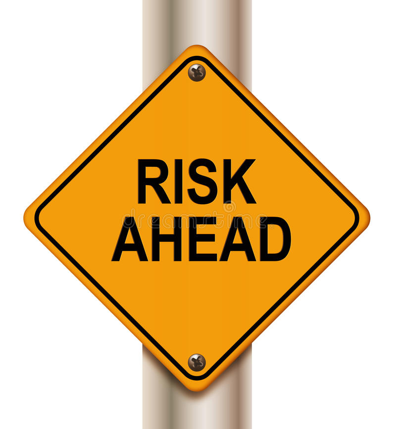 Risk ahead sign vector illustration