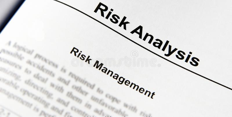 Download Risk Analysis stock photo. Image of analysis, safe, text - 18346982