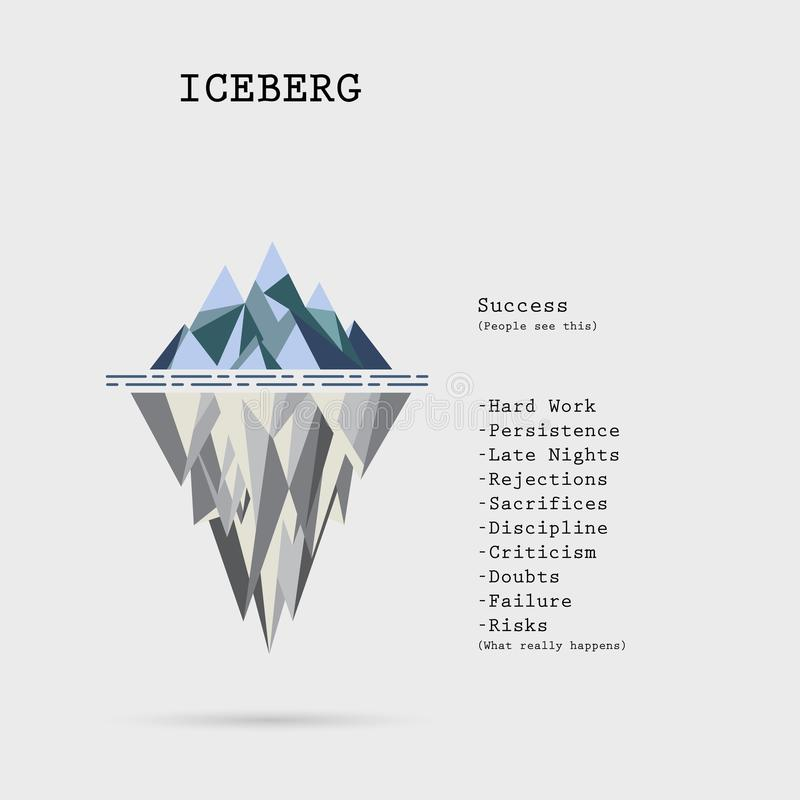 Risk Analysis Iceberg Vector Layered Diagram.Iceberg On Water In ...